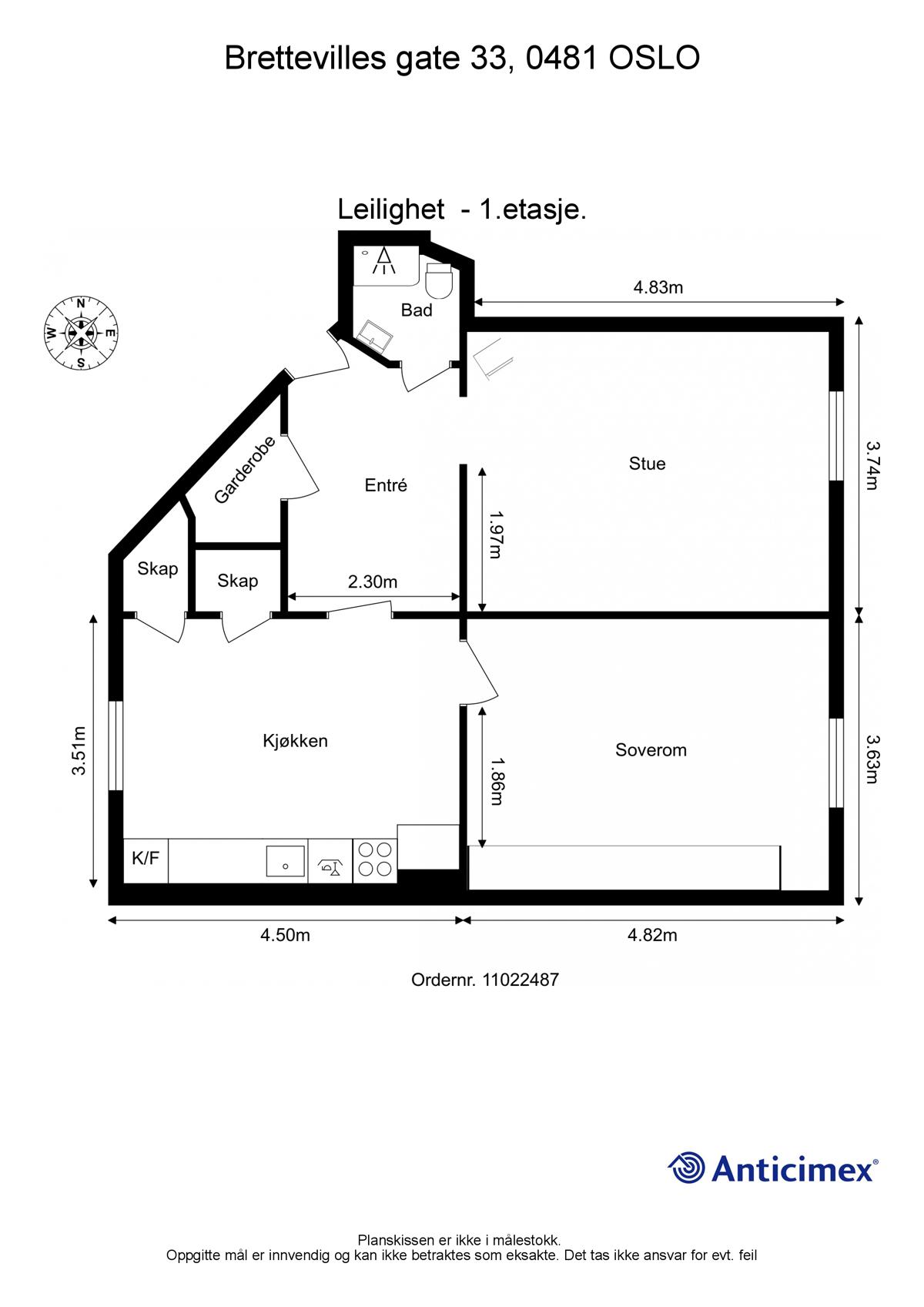 Leilighet - Sagene - Torshov - oslo - 4 710 000,- - Schala & Partners