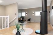 Stor og flott stue i øvre etasje