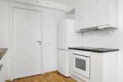 Hvitevarer som platetopp, komfyr, oppvaskmaskin og kjøl-/frys medfølger