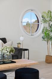 Det ikoniske runde vinduet som utsmykker endeleilighetene