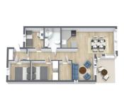 Floorplan letterhead - HUsjordløkka 33 - 1. Etasje - 3D Floor Plan