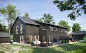 Velkommen til Nordliveien 3.  Fasade og terrasser .  Illustrasjonsbilde