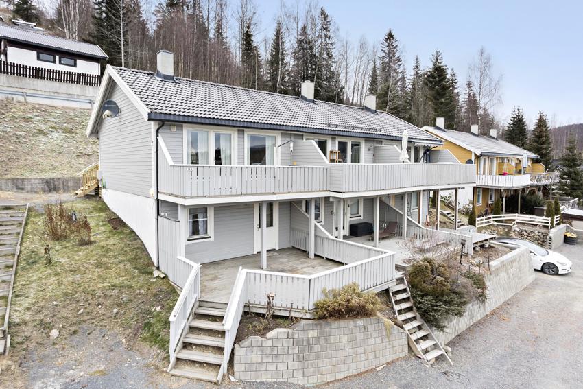 Enkel leilighet med fine terrasser