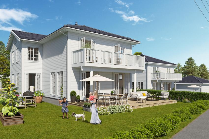 3D illustrasjon Hus 1.