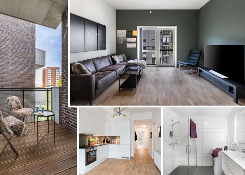 Proaktiv Eiendomsmegling v/Christina Hornes har gleden av å presentere en ny og lekker 2-roms leilighet med gjennomgående høy standard.