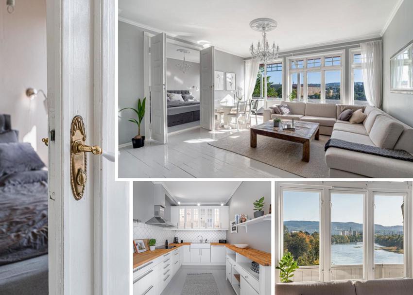 Proaktiv Eiendomsmegling v/Christina Hornes har gleden av å presentere en leilighet med mye særpreg og kvaliteter.