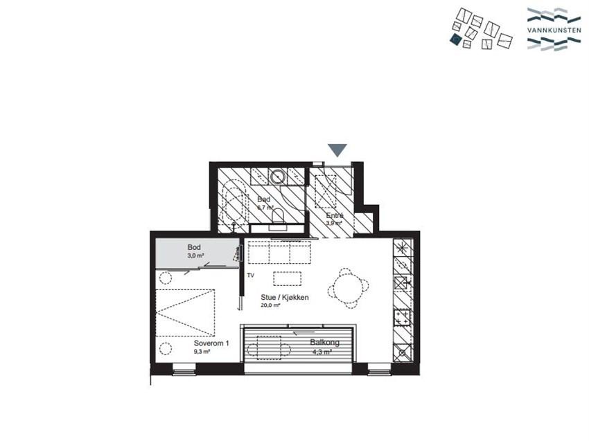 Velkommen til ditt nye hjem. Leilighet H0205 i hus 8 presentert av Noman Afzal i Proaktiv Eiendomsmegling.