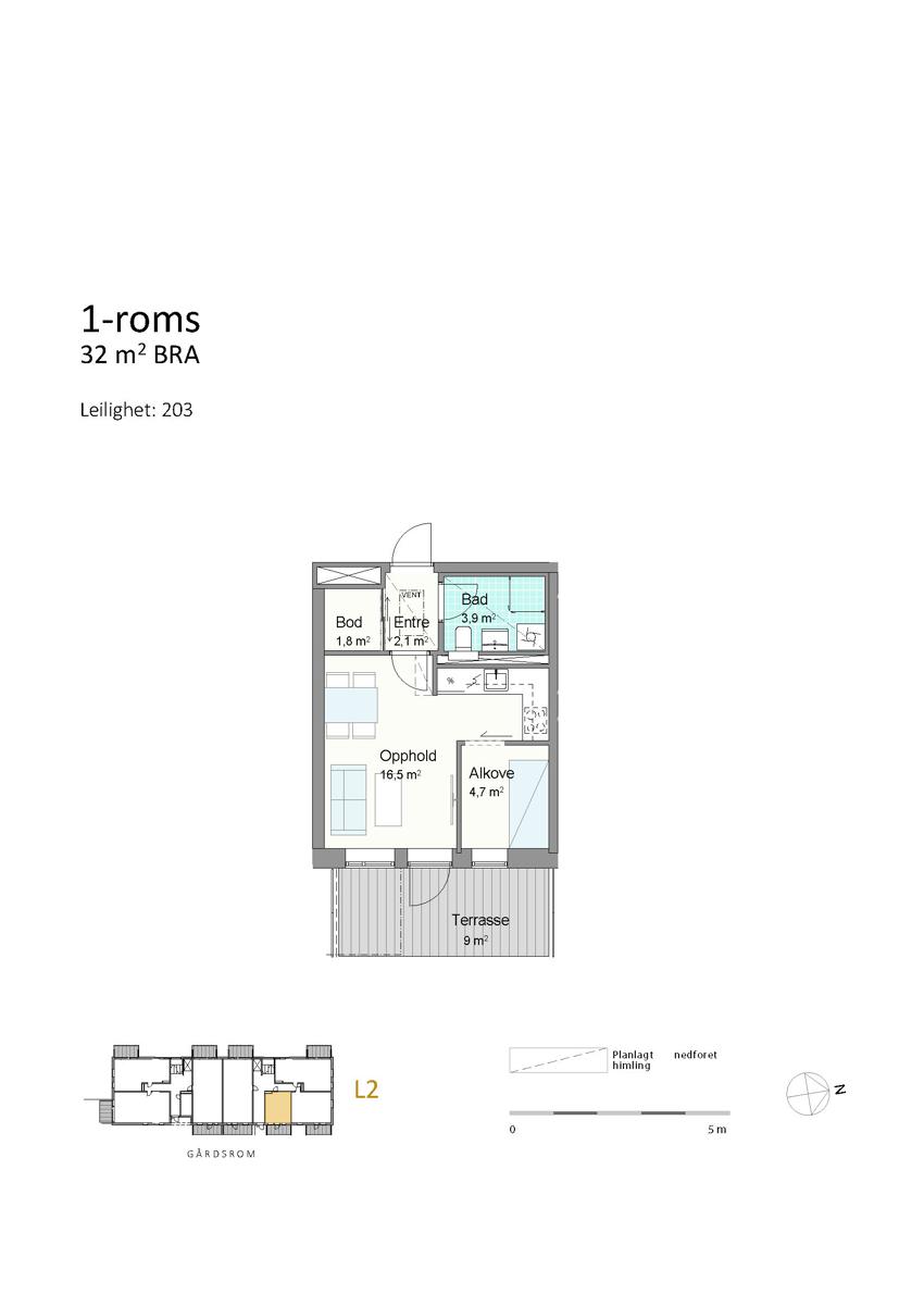 Plantegning leilighet 203