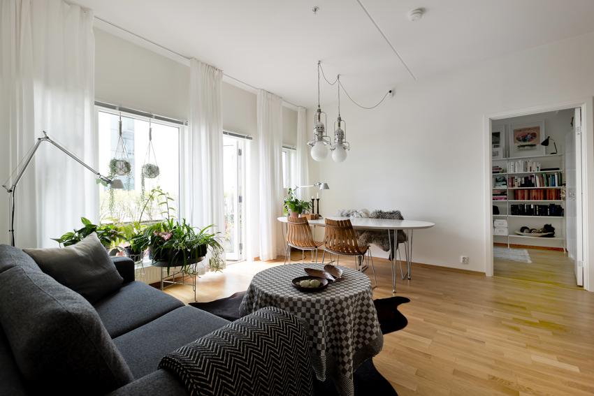 Lys og tiltalende 3-roms med tilbaketrukken og rolig beliggenhet