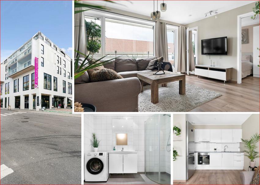PROAKTIV - SANDNES SENTRUM - Meget pen 2-roms selveierleilighet med perfekt planløsning, delvis innglasset balkong og garasjeplass