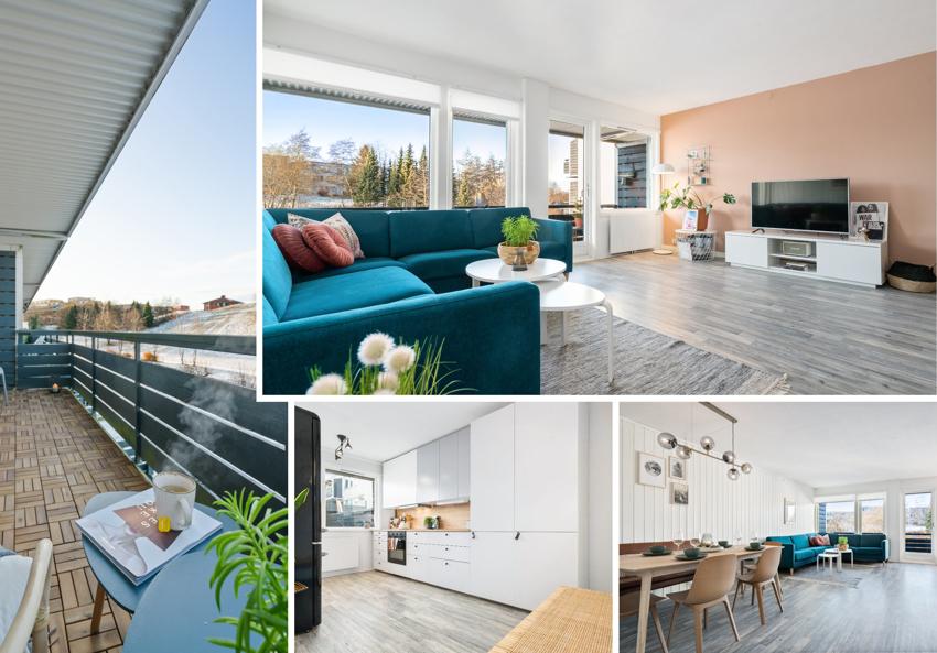 Velkommen til en svært romslig og unik 3-roms leilighet over 2 etasjer. Ypperlig beliggenhet på Risvollan med korte avstander til bydelssenter, barnehage og lekeplasser.