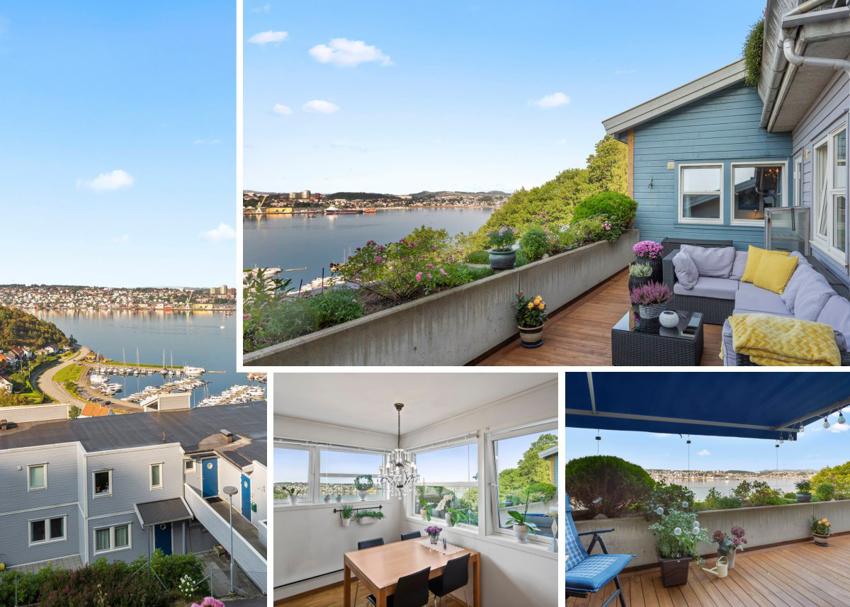 Flott lys leilighet med to soverom og nydelig utsikt fra alle oppholdsrom. Terrasse på 25 kvm med fortryllende utsikt! Svømmehall, trimrom, squash-hall og turstier like ved.