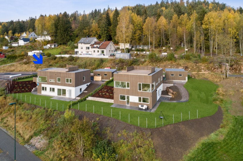 Helt ny funkisvilla i barnevennlig område til salgs ved Fredrik von Krogh & Lasse Bastrup - Proaktiv Bolig og Prosjektmegling.