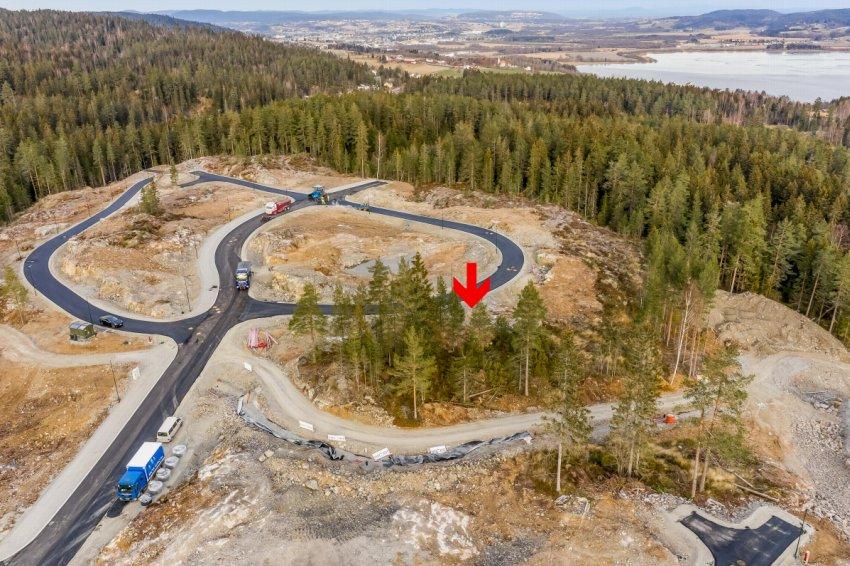 Tomt T52 - byggeklar selvbyggertomt på 656 kvm. Attraktivt beliggende på Smestadkollen - Hektneråsen.