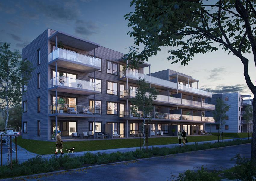 Smedhagen Park trinn 5, 24 selveierleiligheter skal oppføres i Nannestad sentrum. Moderne boligkompleks med heis, garasje og balkong.