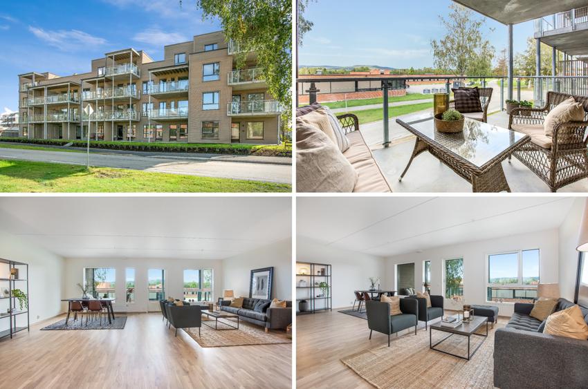 Flott 3r selveier, 88 kvm + 11 kvm balkong. Heis og garasje. Mulighet for svært gunstig Husbankfinansiering, rente 1.6%. Nyoppført leilighet i Nannestad sentrum. Stor og romslig stue, flott leilighet som bør sees.