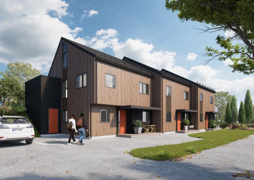 Proaktiv Eiendomsmegling presenterer tre prosjekterte rekkehus i Gulbrandsvegen. Ferdigstillelse medio februar 2020.