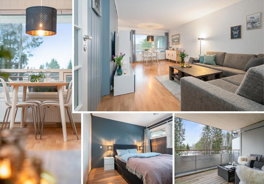 """Proaktiv Eiendomsmegling ved Jonas Toftemo har gleden av å presentere Gaupevegen 40 D. Lys og flott 2-roms leilighet med egen plass i parkeringskjeller. Forutsigbare boutgifter med """"alt"""" inkludert i felleskostnadene."""