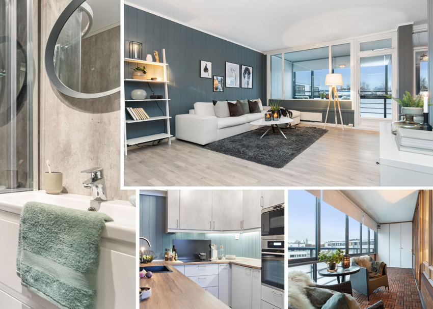 Proaktiv Eiendomsmegling v/Steinar Skaanes har gleden av å presentere denne godt oppussede leiligheten i populære Kolstadflaten borettslag.