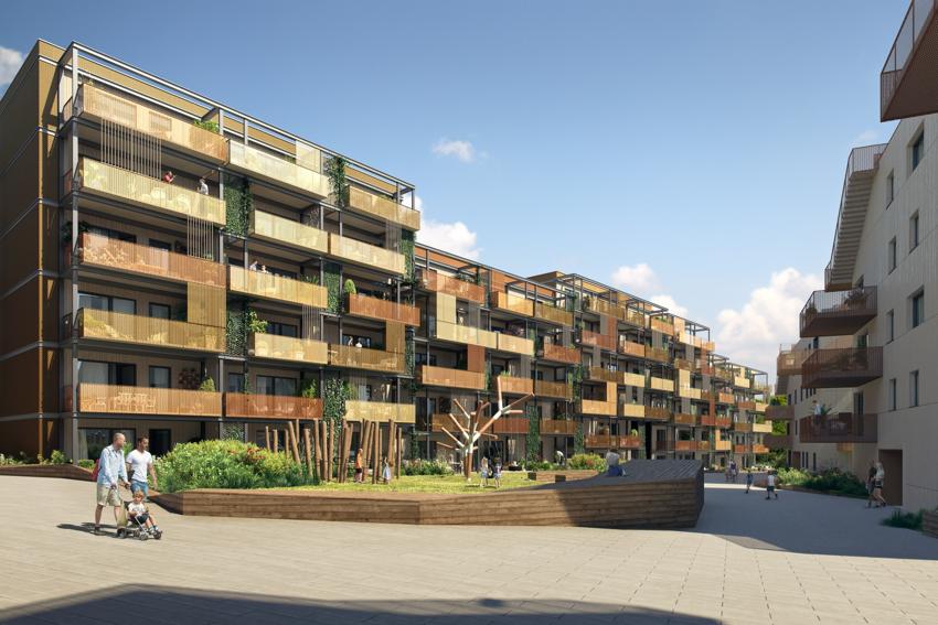 Attraktiv 3r selveier med 13 kvm balkong, heis og mulighet for garasje. Mulighet for svært gunstig Husbankfinansiering, 2% rente. Mulighet for inntil 8 års avdragsfrihet. Tilgang til flotte takterrasser.