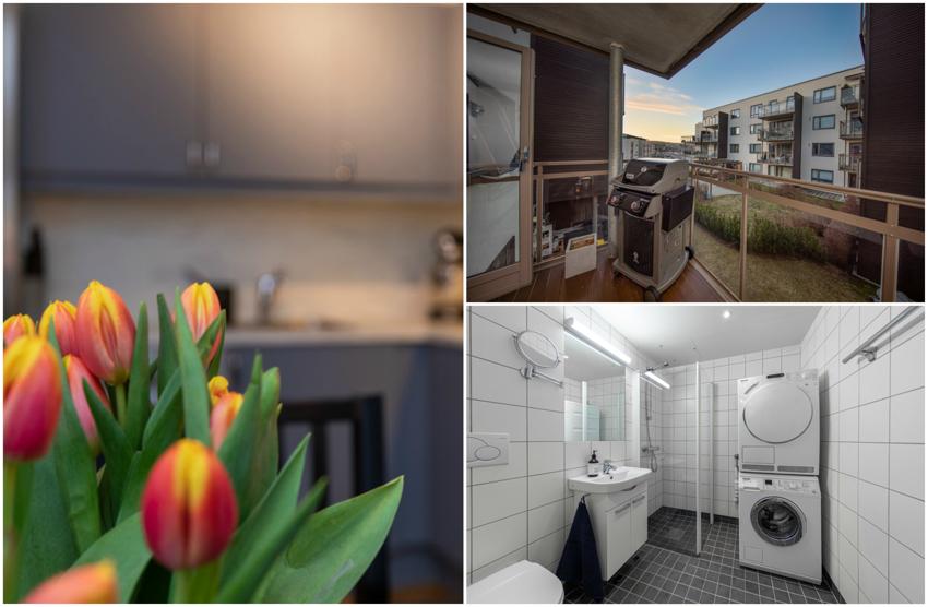 Proaktiv Eiendomsmegling ønsker velkommen til en sentral og flott 2-roms leilighet i Kanalveien 9.