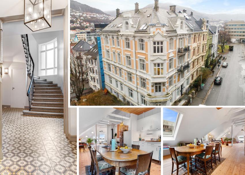 Allegt 38 - Flott penthouse i vakker bygård