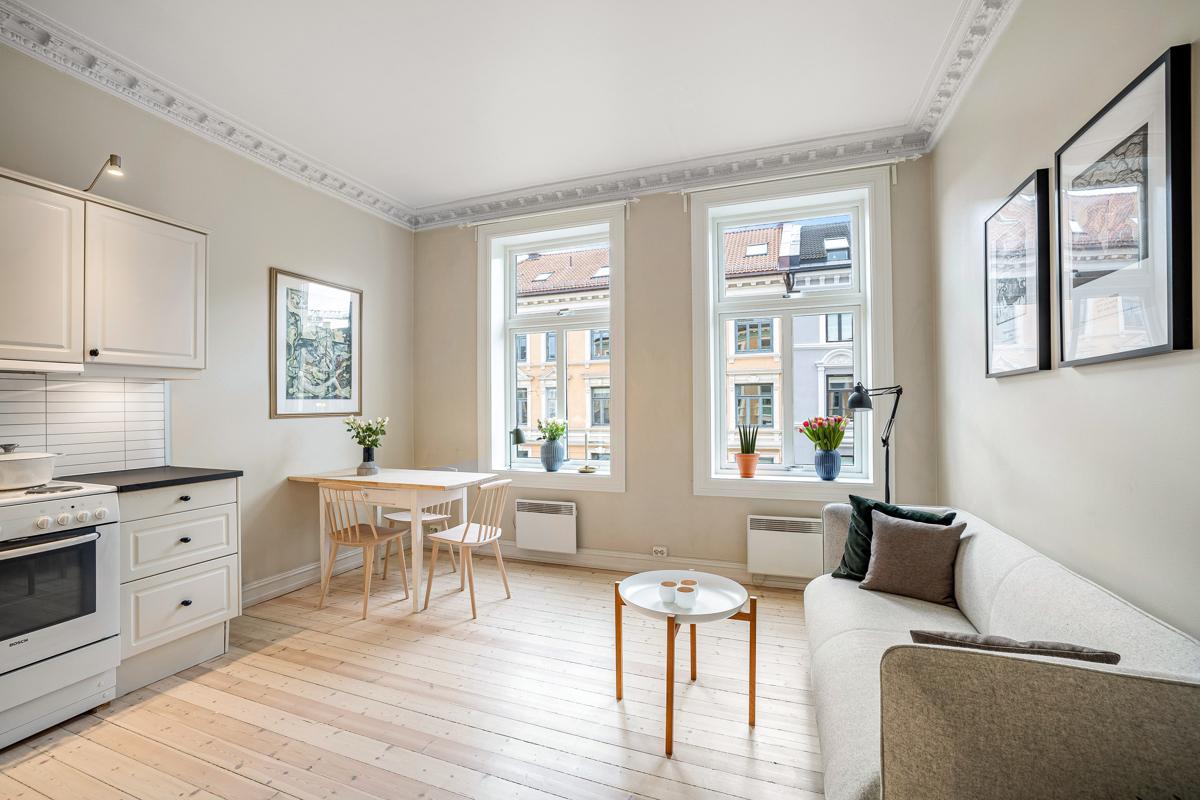 Velkommen til Torshovgata 6 A. Leiligheten er presentert av Lene Brekken i Schala & Partners eiendomsmegling.