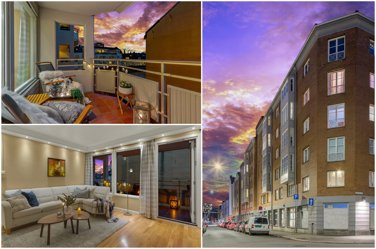 #GRÜNERLØKKA - Lys og luftig 3-roms med vestvendt balkong | Gode solforhold | Kjøkken fra 2018 | V.vann inkl | Supersentralt!