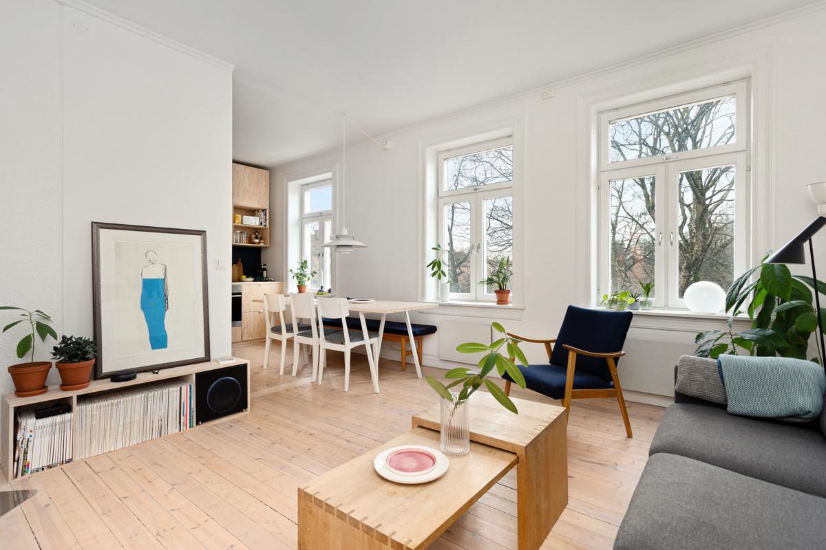 Velkommen til Tøyengata 41 B - En meget fin 3-roms leilighet med sikt ut i Botanisk hage